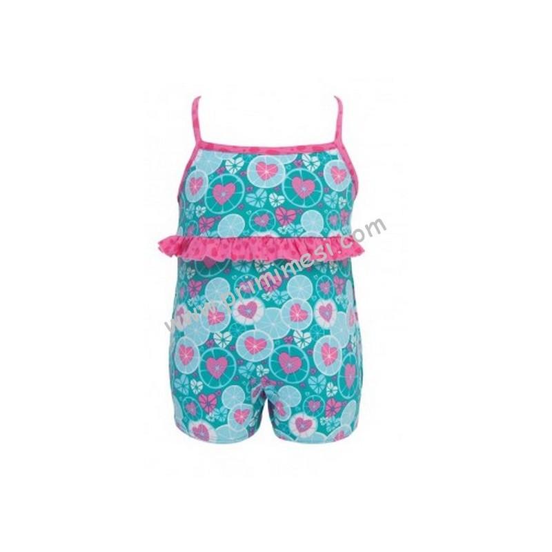 Costume da mare o piscina neon intero archimede per bimba - Costumi da bagno bimba ...