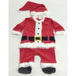Tutina in ciniglia Babbo Natale per maschietto e femminuccia