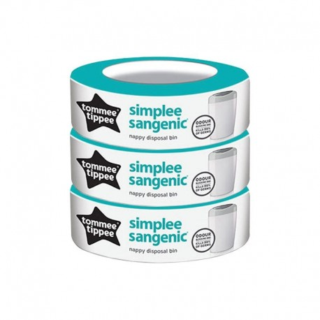 3 ricariche per contenitore Sangenic Simplee