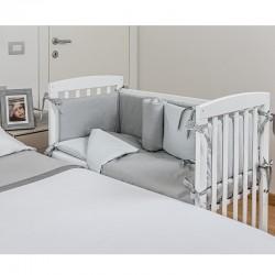 Lella - Il letto culla Picci completa di rivestimento fantasia- materasso - Cuscino in omaggio