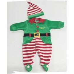 Tutina in ciniglia natalizia Elfo maschietto e femminuccia