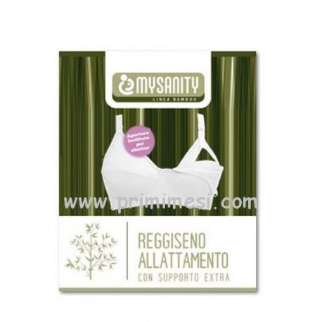 Reggiseno allattamento Bianco con supporto extra in bamboo Mysanity