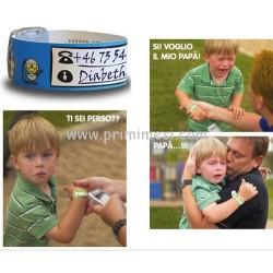 Braccialetti identificativi per bambini Infoband Damble