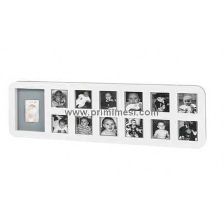 First Year Print Frame Baby Art Colore Bianco