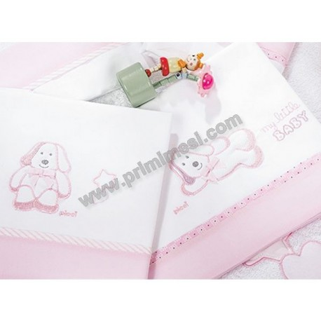 Embroidered sheets for Sugar Picci