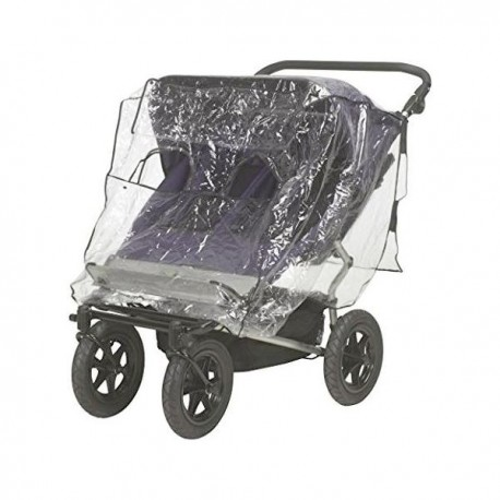 Universal rainscreen for twin strollers side by side Playshoes