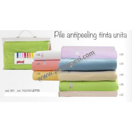 Antipeeling fleece blanket for Picci