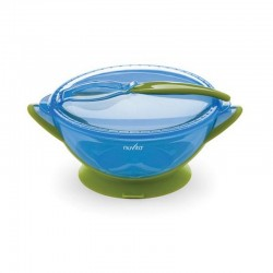New Bowl with lid and spoon weaning Nuvita