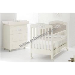 Erbesi Tippy bedroom with cot and changing mat - free mattress and pillow