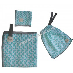 Mussoline set with envelope in coordinated Fundas