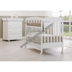 Nido Erbesi Schlafzimmer mit Kinderbett und Babywanne / Wickelauflage - Matratze gratis