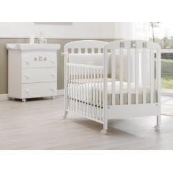 Chambre Molly Erbesi - berceau et matelas - baignoire bébé / table à langer