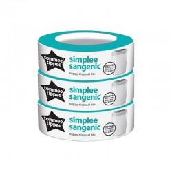 3 refills per Sangenic Simplee container