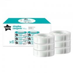 6 refills per Sangenic Simplee container