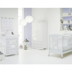 Cot + baby bath / changing table by Lucilla Foppapedretti with gift mattress