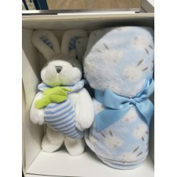 Fleece cot/wheelchair blanket with plush