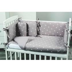Lella - Il letto culla Picci completa di rivestimento Stella - materasso - Cuscino in omaggio