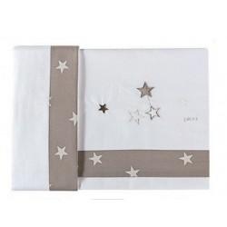 Set lenzuola ricamato per lettino Stella Picci