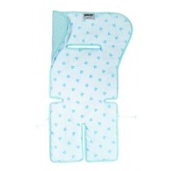 Double Face Hearts mattress for strollers and egg Picci
