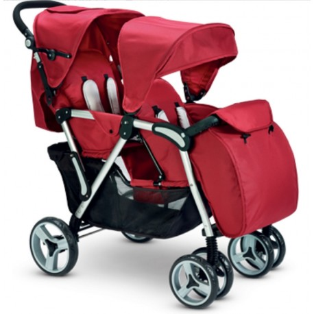Twin stroller Gemini Plebani