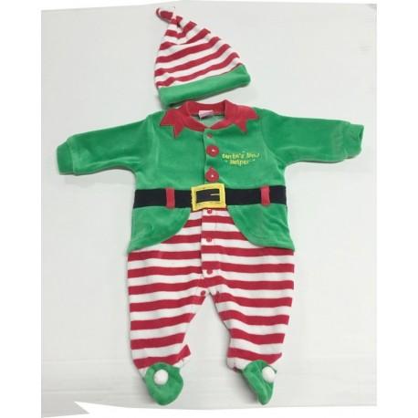 Tutina in ciniglia natalizia Elfo