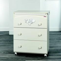 Bagnetto/Fasciatoio 3 cassetti Picci modello Amelie