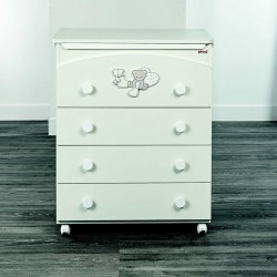 Chest of drawers 4 drawers Picci model Amelie
