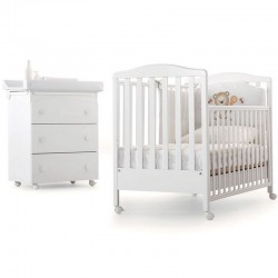 Bedroom Web Azzurra Design with crib and changing mat for baby - Gift mattress