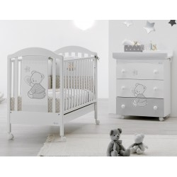 Bedroom with cot and baby bath Cuore Stelle Azzurra Design - free mattress