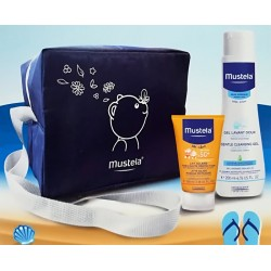 Offer Solar milk + Mild detergent Mustela with complimentary fridge bag