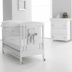 Bubu Erbesi bedroom with cot and changing mat - mattress and pillow gift