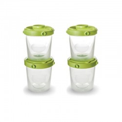 Set 4 containers for milk and baby Nuvita
