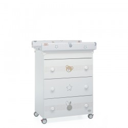 Bunny&Co bath/changing table Foppapedretti with piglet