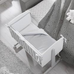 Culla co-sleeping Ninna Erbesi completa di materasso e tessile