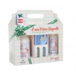 Bagnetto delicato Bio + crema cambio + set spazzola e pettine Innocenti Argenti