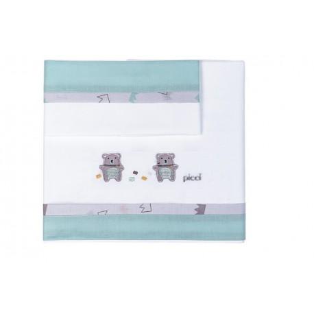 Set lenzuola culla per converse Orso Picci