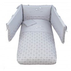 Embroidered duvet set with Space Picci