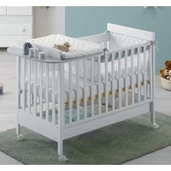 Lettino Homi Baby Space con Kit fasciatoio ematerasso in omaggio Azzurra Design