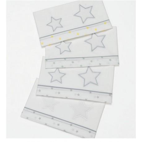 Set Lenzuola per lettino con federa Luce Azzurra Design