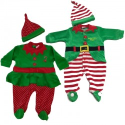 Elf boy and sissy Christmas chenille tunic