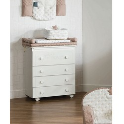 Changing table 4 drawers Matisse Bianco Dili Best - for display