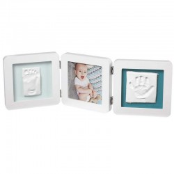 My Baby Touch Double Print Frame Baby Art Colore Bianco