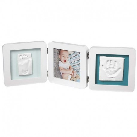My Baby Touch Double Print Frame Baby Art White Color