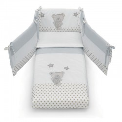 Duvet set with Contact Art bumper Azzurra Design for Contact cot