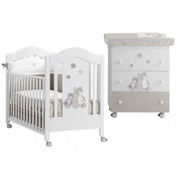Lilo & Giò Erbesi bedroom - Cot and baby bath / changing mat - free mattress and chandelier