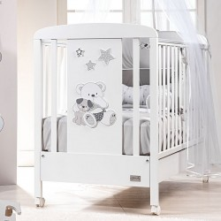 Cot with decorated panel Valdo Picci with complimentary mattress