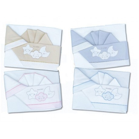 Andy and Helen Cot Flannel Sheets Set