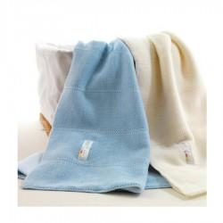 Coperta in lana bicolore Picci per carrozzina