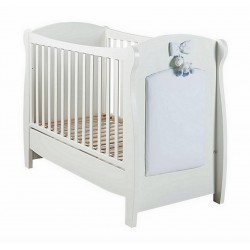 Milky Picci cot with fabric panel + free mattress