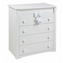 Milky chest of drawers 4 Picci drawers